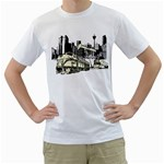 train in city design custom White T-Shirt