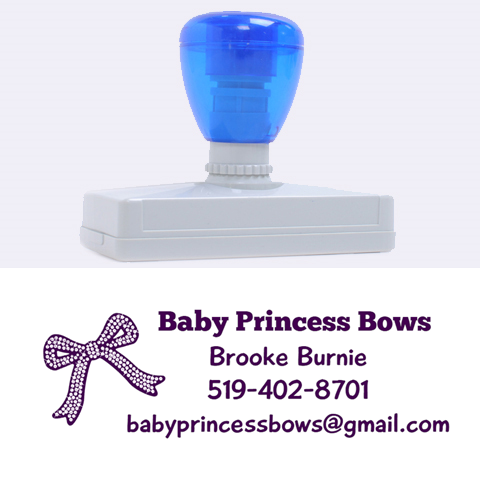 Bows By Brooke Burnie   Rubber Address Stamp (xl)   Ogrm6wjc2prh   Www Artscow Com 3.13 x1.38  Stamp