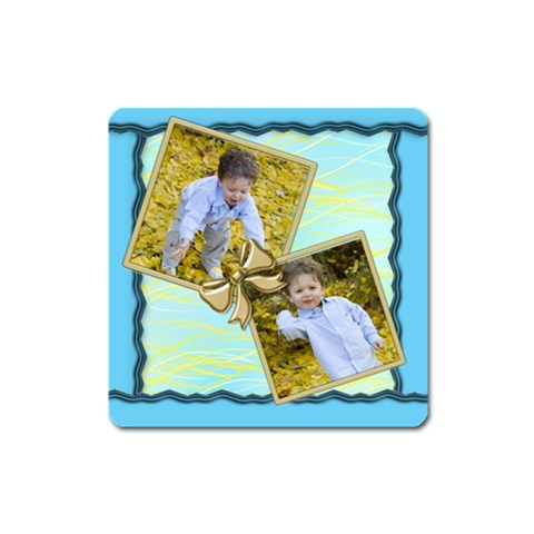 Little Blue Magnet By Deborah   Magnet (square)   Ywnzn38on68f   Www Artscow Com Front