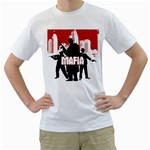 mafia design custom White T-Shirt