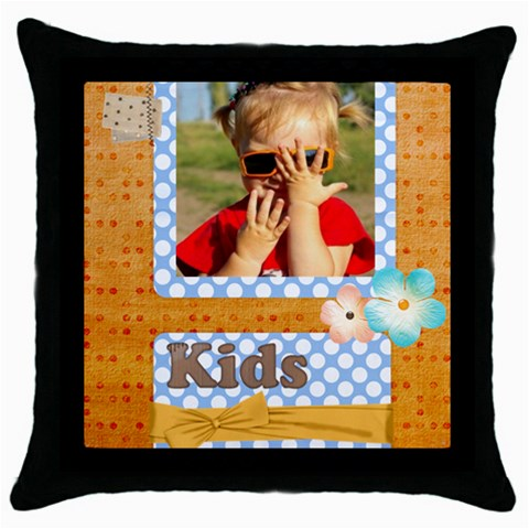 Kids By Joely   Throw Pillow Case (black)   Zr0coul8eqwj   Www Artscow Com Front