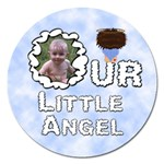 Our Little Angel Boy Round 5 Inch Magnet - Magnet 5  (Round)