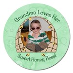 Grandma Loves Her Sweet Honey Bees Magnet 5 Round - Magnet 5  (Round)