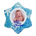 Snowflake single sided Baby s First Christmas - Ornament (Snowflake)