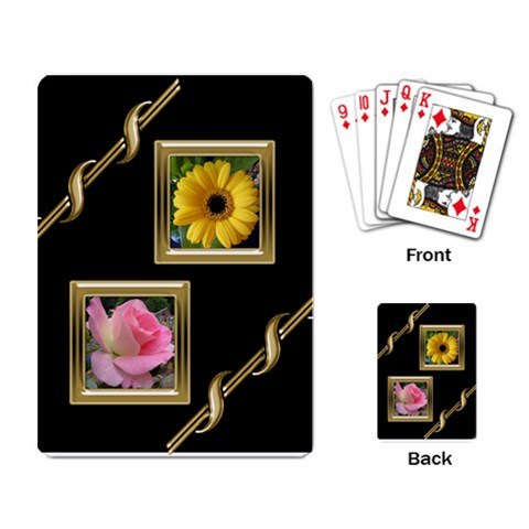 Black And Gold Playing Cards By Deborah   Playing Cards Single Design   Bc2foyly1v13   Www Artscow Com Back