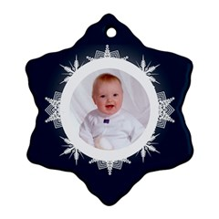 Snowbaby Double Sided Snowflake Ornament By Catvinnat   Snowflake Ornament (two Sides)   H5h86bbfha9x   Www Artscow Com Front