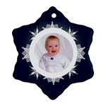 Snowbaby Double Sided Snowflake Ornament - Snowflake Ornament (Two Sides)
