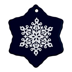 Snowbaby Double Sided Snowflake Ornament By Catvinnat   Snowflake Ornament (two Sides)   H5h86bbfha9x   Www Artscow Com Back