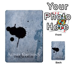 Aether Captains: The Search By Todd Sanders   Multi Purpose Cards (rectangle)   Tnpb4ewtz7af   Www Artscow Com Back 40