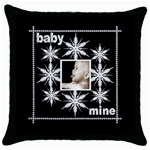 Baby Mine Snowflake  Throw Pillow - Throw Pillow Case (Black)