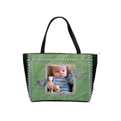 Green Diamond Studded Classic Shoulder Handbag By Lil    Classic Shoulder Handbag   P8nf73mzvxhw   Www Artscow Com Front