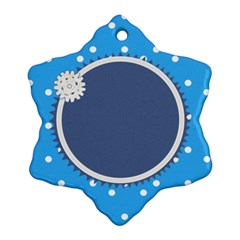 Little Snowflake By Daniela   Snowflake Ornament (two Sides)   6d4fdgw9om2p   Www Artscow Com Back