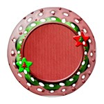 Christmas ornament - Round Filigree Ornament (Two Sides)