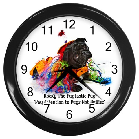 Rocky Roo Clock Clown By Chantel Reid Demeter   Wall Clock (black)   Aga9dfsp22c9   Www Artscow Com Front