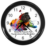 rocky roo clock clown - Wall Clock (Black)