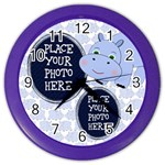 Blue Hippo Clock - Color Wall Clock