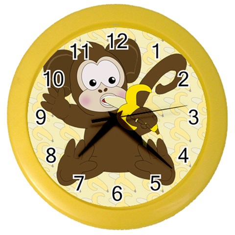 Monkey Clock 2 By Chere s Creations   Color Wall Clock   U8lfumiw7w63   Www Artscow Com Front