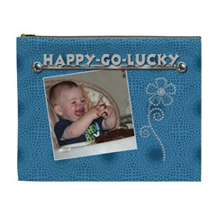 Happy Go Lucky Xl Cosmetic Bag By Lil    Cosmetic Bag (xl)   Sxq5mn0tq6qz   Www Artscow Com Front