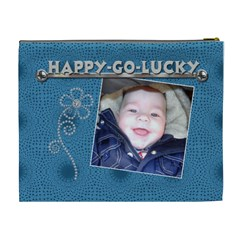 Happy Go Lucky Xl Cosmetic Bag By Lil    Cosmetic Bag (xl)   Sxq5mn0tq6qz   Www Artscow Com Back