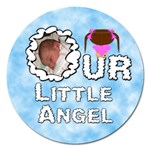 Our Little Angel Girl Round 5 inch Magnet - Magnet 5  (Round)
