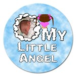 My Little Angel Girl Round 5 inch Magnet - Magnet 5  (Round)