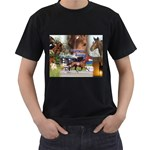 Harness Racing Black T-Shirt (Two Sides)