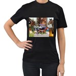 Harness Racing Women s Black T-Shirt (Two Sides)