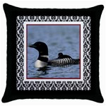 loon6 - Throw Pillow Case (Black)