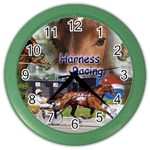 Harness Racing Color Wall Clock