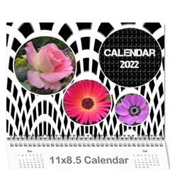 Modern Black And White Calendar 2018 (any Year) By Deborah   Wall Calendar 11  X 8 5  (12 Months)   K5nouios7zmi   Www Artscow Com Cover