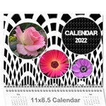Modern Black and White Calendar 2018 (any Year) - Wall Calendar 11  x 8.5  (12-Months)