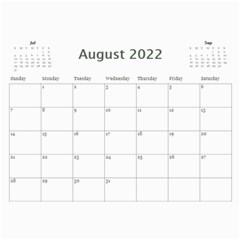 Modern Black And White Calendar 2018 (any Year) By Deborah   Wall Calendar 11  X 8 5  (12 Months)   K5nouios7zmi   Www Artscow Com Aug 2018