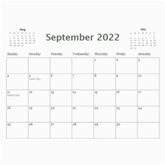 Modern Black And White Calendar 2018 (any Year) By Deborah   Wall Calendar 11  X 8 5  (12 Months)   K5nouios7zmi   Www Artscow Com Sep 2018