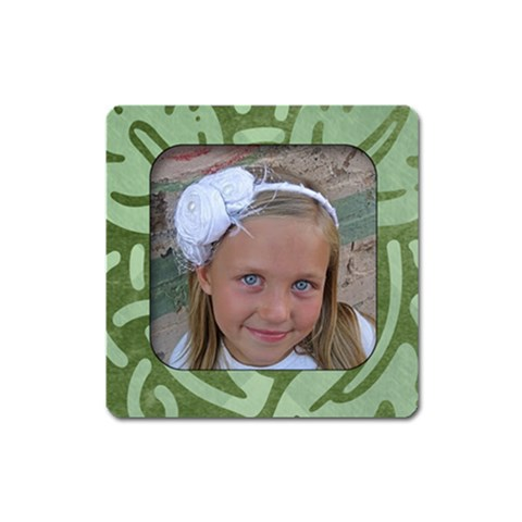 Green Summer Magnet by Amanda Bunn Front