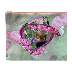 Bleeding Heart Xl Cosmetic Bag By Chere s Creations   Cosmetic Bag (xl)   Qq9e3h258mwa   Www Artscow Com Front