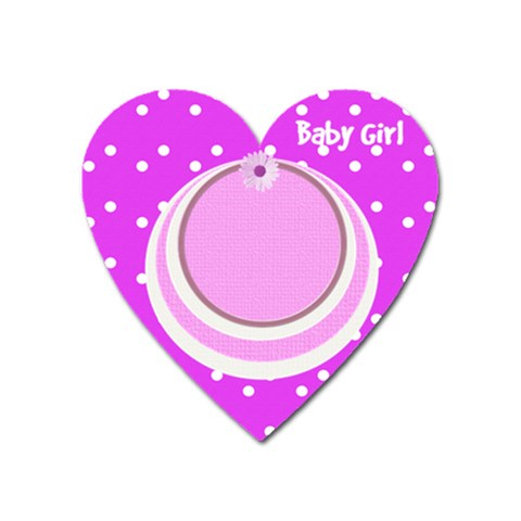 My Baby Girl Heart Magnet By Daniela   Magnet (heart)   1mfhvt6mnc8e   Www Artscow Com Front