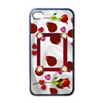 Roses on white Satin - Apple iPhone 4 Case (Black)