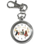 Travelling Yorkies in Paris Key Chain Watch