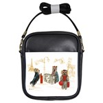 Travelling Yorkies in Paris Girls Sling Bag