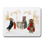 Travelling Yorkies in Paris Small Mousepad