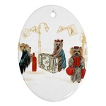 Travelling Yorkies in Paris Ornament (Oval)