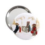Travelling Yorkies in Paris 2.25  Handbag Mirror