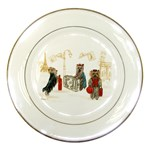 Travelling Yorkies in Paris Porcelain Plate