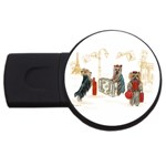 Travelling Yorkies in Paris USB Flash Drive Round (4 GB)