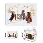 Travelling Yorkies in Paris Playing Cards Single Design