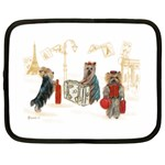 Travelling Yorkies in Paris Netbook Case (Large)