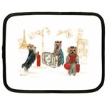 Travelling Yorkies in Paris Netbook Case (XL)