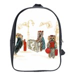 Travelling Yorkies in Paris School Bag (Large)