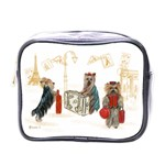 Travelling Yorkies in Paris Mini Toiletries Bag (One Side)