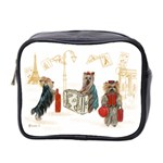 Travelling Yorkies in Paris Mini Toiletries Bag (Two Sides)